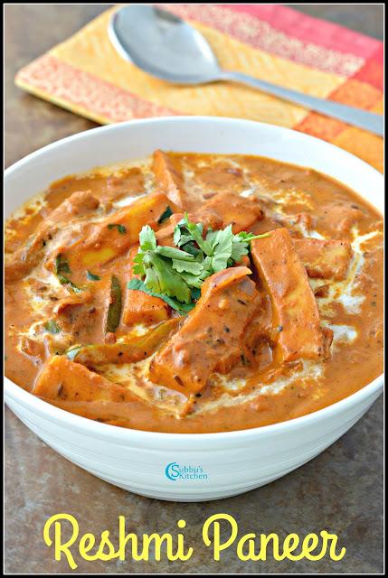 Reshmi Paneer Masala Recipe