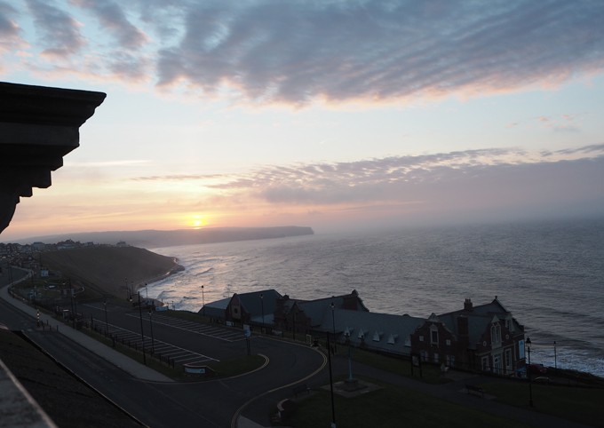 Travel Guide to Whitby sunset view