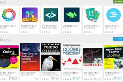 Download aplikasi untuk belajar coding smartphone