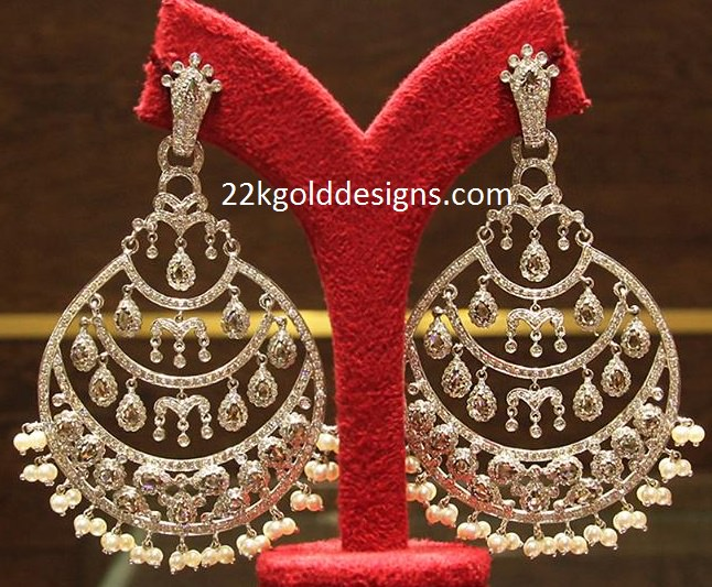 Diamond Chandbali Style Earrings