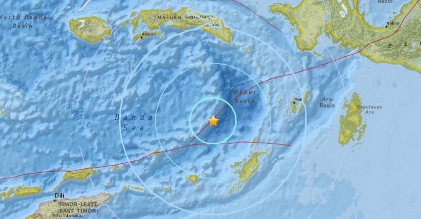 TERREMOTO EN INDONESIA de Magnitud 5.9 - Alerta de Tsunami (Hoy Jueves 01 Marzo 2018) Sismo Temblor EPICENTRO - Airbuaya - Saumlaki - Isla Yamdena - USGS
