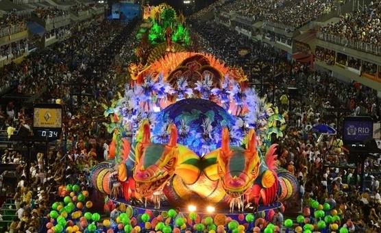 Desfile en Carnaval de Río de Janeiro