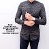 Kemeja Batik Songket Black Panjang kerja Kantor Slimfit Batik Cowok