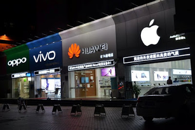 9 of the top twelve smartphone manufacturers in the world are in China