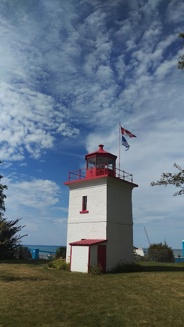 A view of Goderich lighthouse.