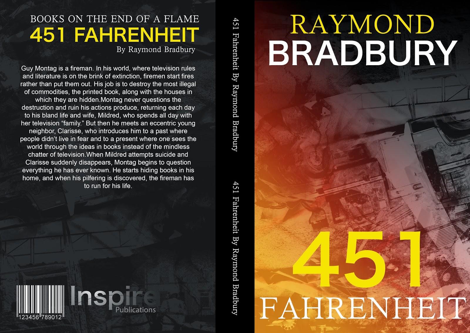 University Portfolio 2014: FMP 451 Fahrenheit Book Cover ...