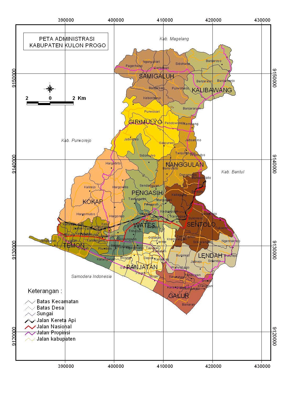 Peta Kabupaten Kulon Progo Pola Ruang Karawang