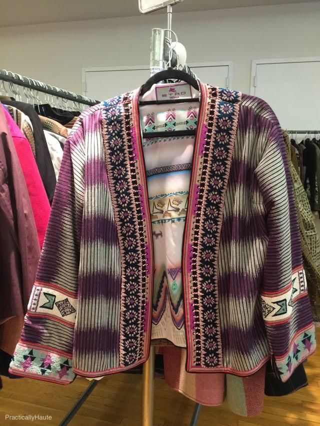 Etro sample sale open print jacket