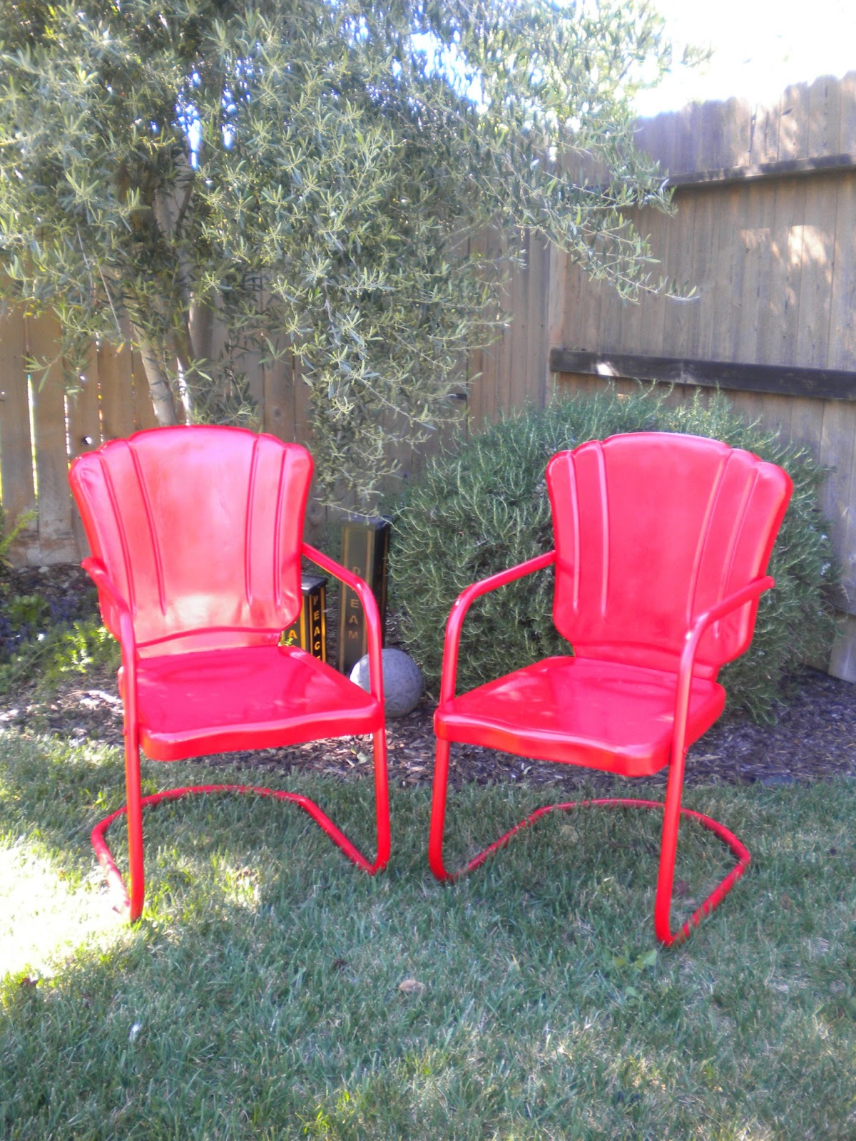 Retro Lawn Chairs Shabby Brocante Vintage Metal Lawn Chairs