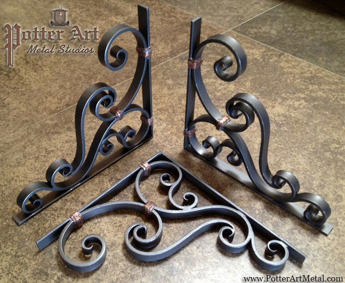 Potter Art Metal Studios Wrought Iron Corbels