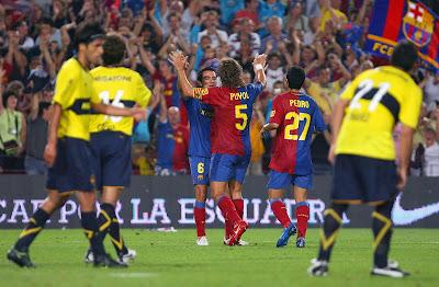 Joan Gamper : Barcelona 2 vs 1 Boca Juniors 16-08-2008