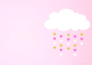 Blesing Rain for Girls Free Printable Invitations, Labels or Cards.