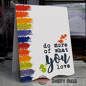Do What You Love and Choose Happy stamps (from the Say It Big series)