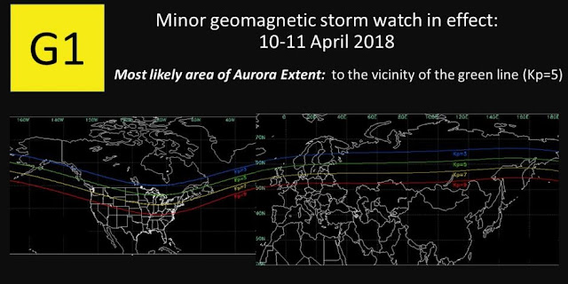minor geomagnetic storm may hit earth on tuesday or wednesday