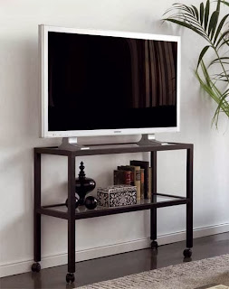 mesa para television de forja con ruedas