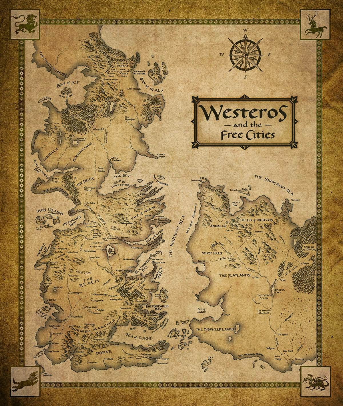Games Of Thrones Landkarte