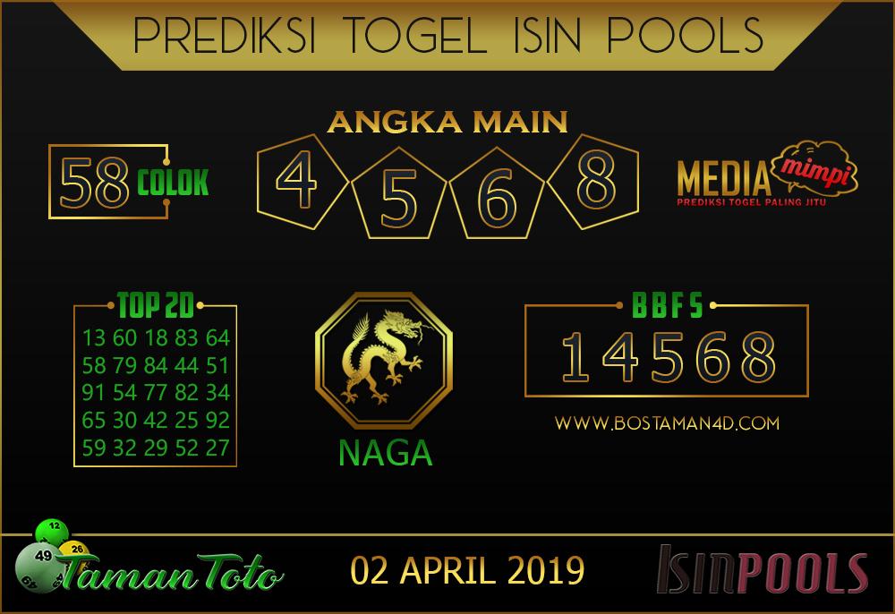 Prediksi Togel ISIN TAMAN TOTO 02 APRIL 2019