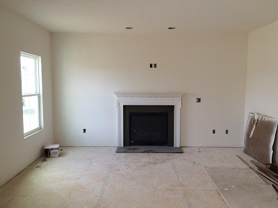 ryan homes milan family room fireplace complete