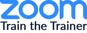 the zoom logo with the subtext train the trainer