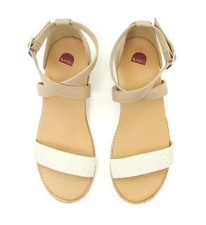 Bared Shoes Woodpecker Sandals (White and Beige)