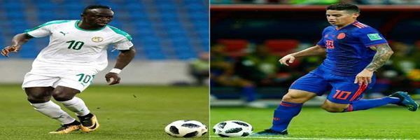 موعد مباراة السنغال وكولومبيا اليوم الخميس 28-6-2018