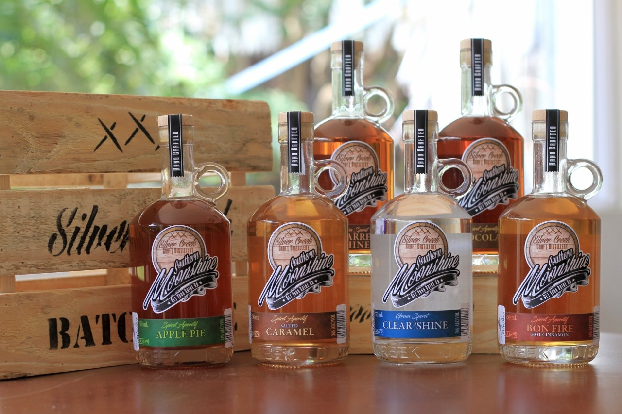 now you can getyourshineon with the all new southern moonshine range of unaged american style moonshines handmade in small batches