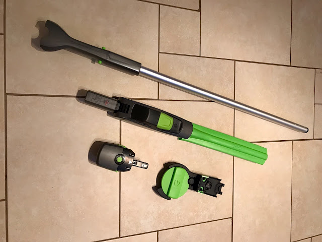 All the components of the GTech HT20 Cordless Hedge Trimmer & Branch Cutter