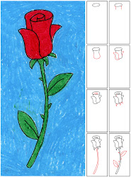 rose draw projects diagram students drawing easy roses simple kid teachers asking feeling going many valentine children flower grade trace