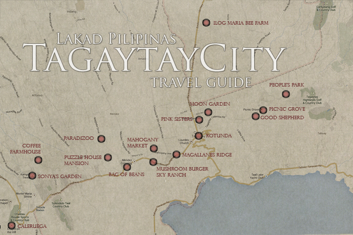 Tagaytay Travel Guide Map