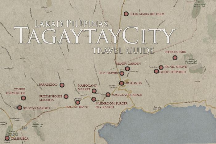Tagaytay Travel Guide Map