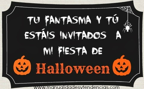 invitación para fiesta de Halloween imprimible y gratuita / free printable Halloween party invitation