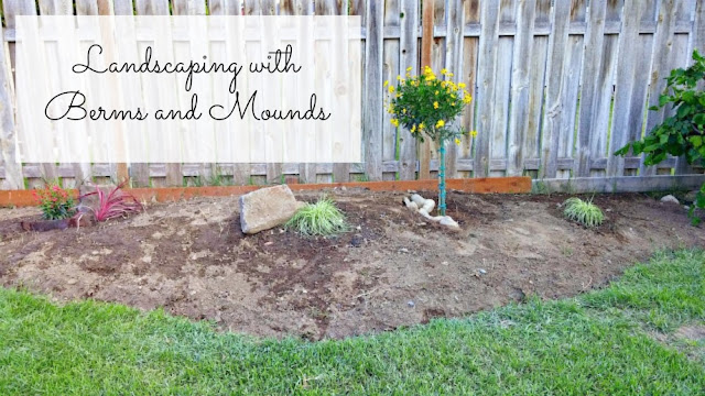 Adding a berm or mound to landscaping