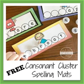 consonant cluster spelling mats