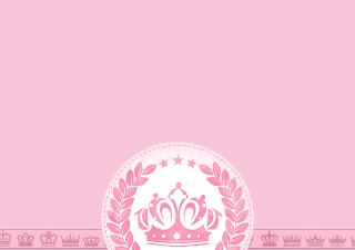 Corona Rosada en Shabby Chic: Invitaciones para Imprimir Gratis.