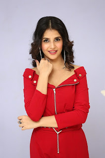 Kashish Vohra Hot Photos in Red Dress