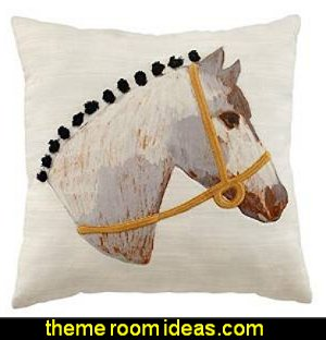 equestrian throw pillow