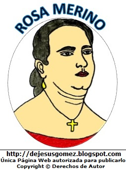Rosa Merino interprete del himno peruano, dibujo de Rosa Merino para niños. Dibujo de Rosa Merino hecho por Jesus Gómez