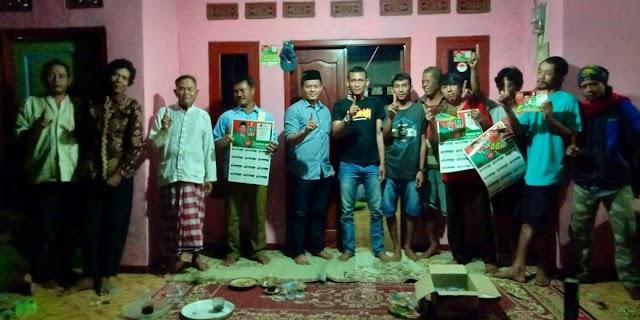 Caleg PKB Khoerun Huda Sambangi Rumah Ketua Pemuda Kampung Jungkel