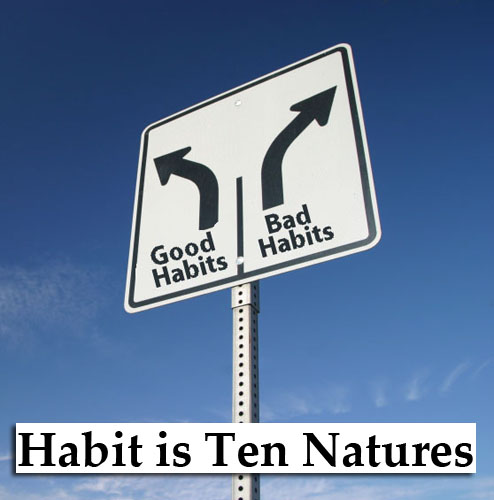 Habit is stronger than nature.