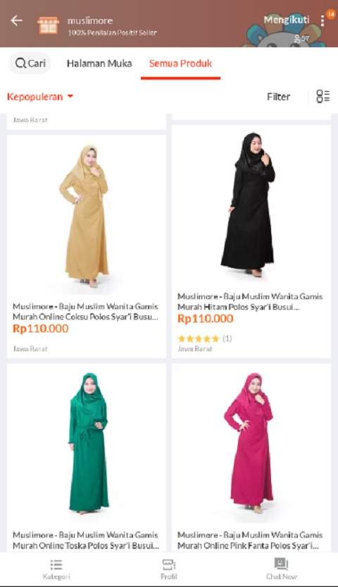 Muslimore Sebagai Toko Baju Muslim Terlaris di Lazada