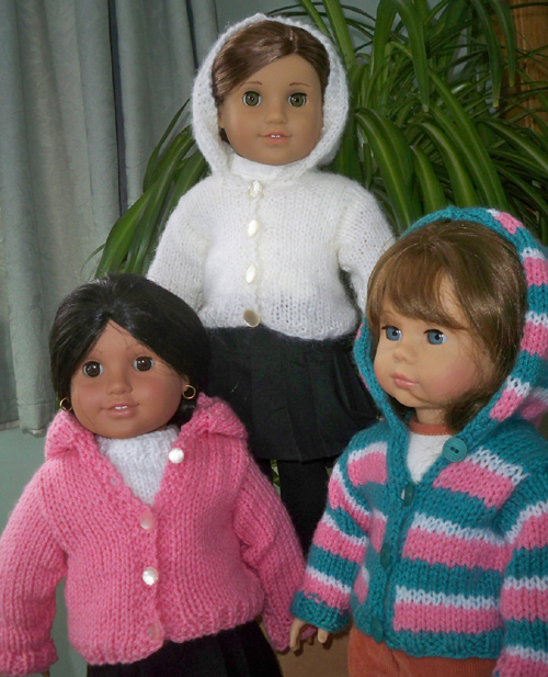 Hoodie for 18 inch American Girl and Gotz Dolls - Free Pattern