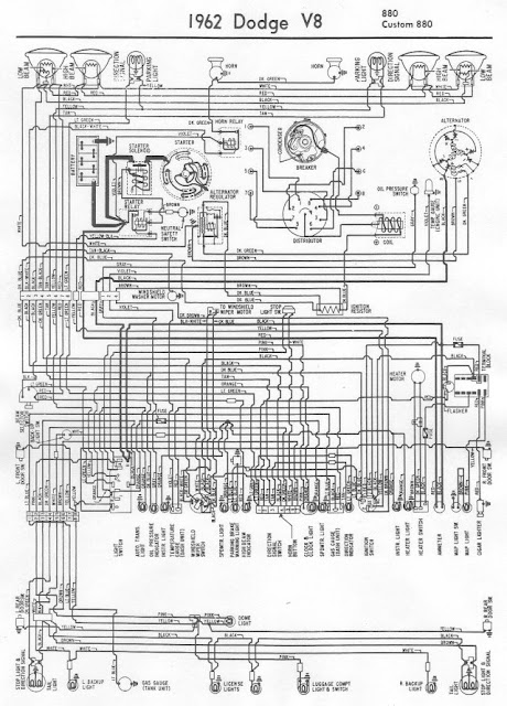 1962 Dodge 880 And Custom 880    Wiring       Diagram      All about