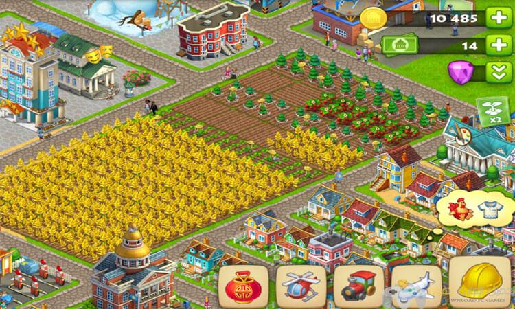 تحميل لعبة المزرعة تاون شيب Township للكمبيوتر والاندرويد