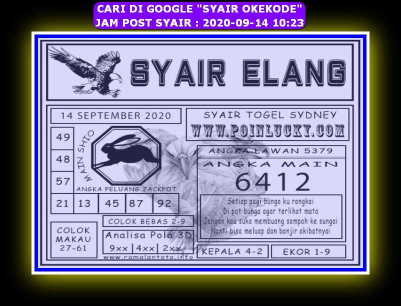 Kode syair Sydney Senin 14 September 2020 155