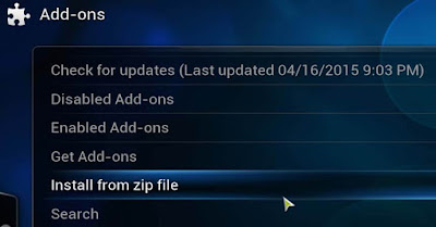 Select the Install from Zip file option