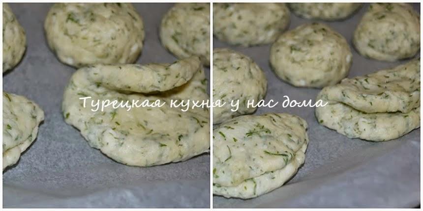 Несладкие булочки из укропно-сырного теста
