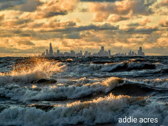 Today\u0027s serenity scene is a spectacular view of the Chicago skyline