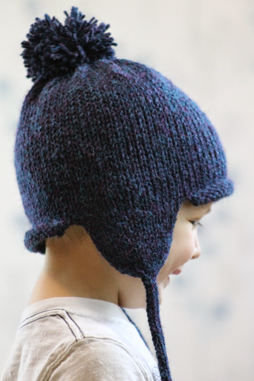 Knitting Pattern For Toddler Hat With Earflaps : Balls to the Walls Knits: All in the Family Earflap Hat