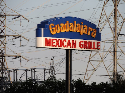 Guadalajara Mexican Grille (signage on post)