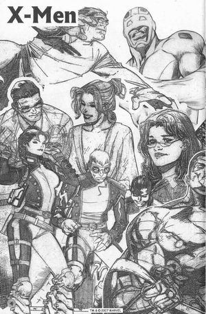 Some sketches from House of M by Olivier Coipel, Alan Davis, and Aaron Lopresti